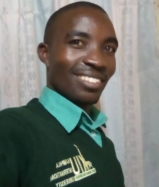 Kwizera Fred, pursuing a certificate course at Kampala International University, Bushenyi Branch.